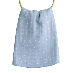Alimrose | Muslin Cloth Swaddle | Blue Stars