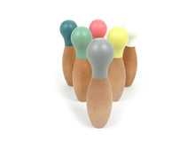 Load image into Gallery viewer, Wooden bowling set