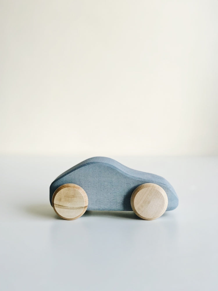 Raduga Grez | Wooden Toy Car | Silver