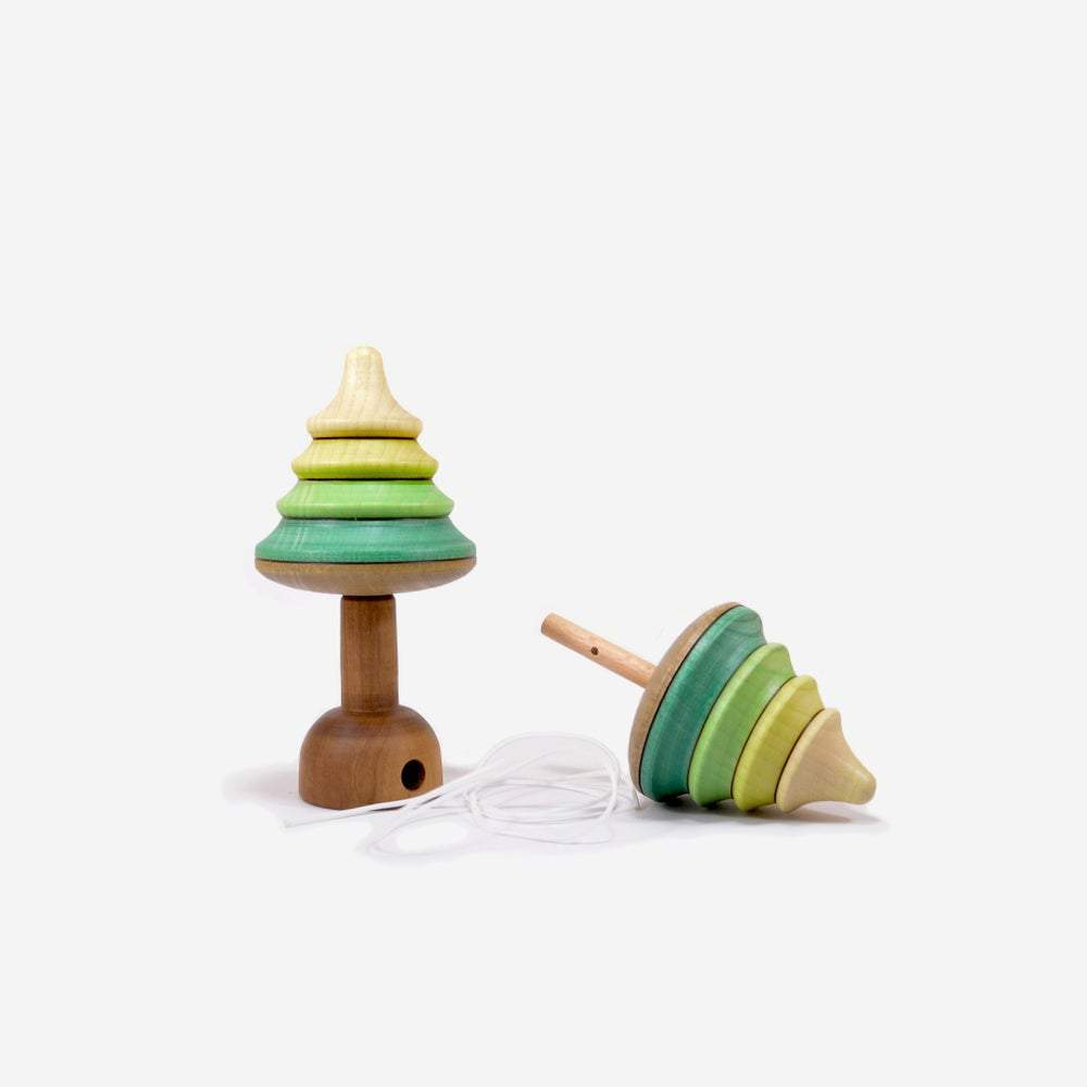 Mader | Spinning Tops | Tree Spinning Top to Pull Off