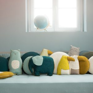 Muskhane | Pasu Elephant Cushion Blue