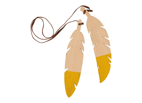 feather garland yellow