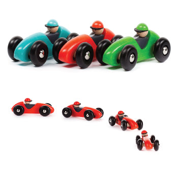 Bajo | Left Right Racing Car | Red