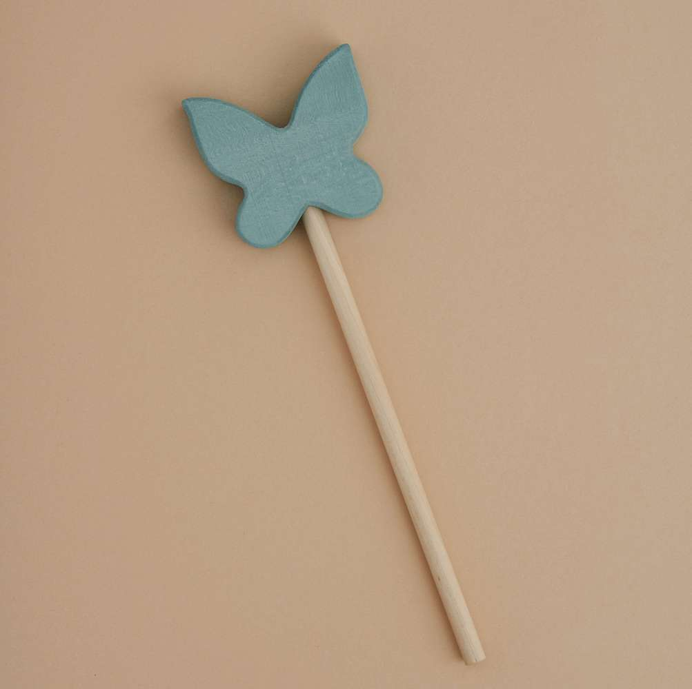 Raduga Grez | Magic Wooden Butterfly Wand | Light Mint
