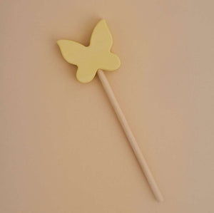 Raduga Grez | Magic Wooden Butterfly Wand | Vanilla Yellow
