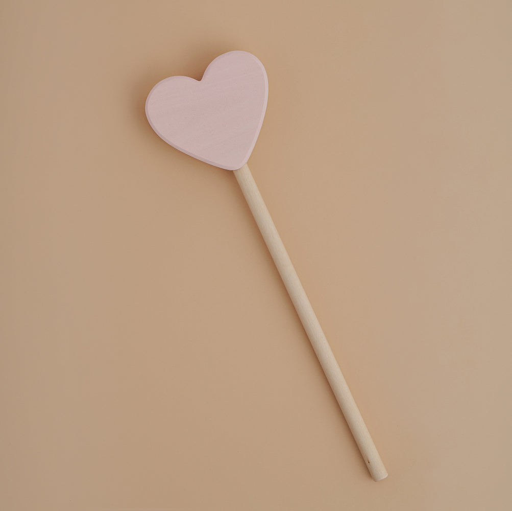 Raduga Grez | Magic Wooden Heart Wand | Pink