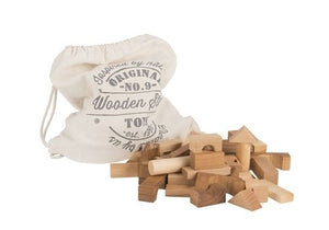 Wooden Story | Blocks 100 pcs in sack | Natural