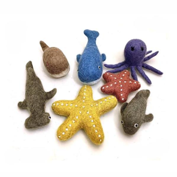 Sea Animals Felt Set l 7 Piece