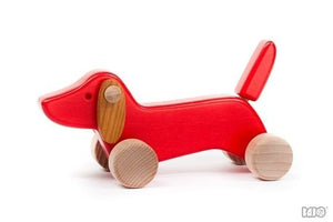 Bajo | Dachshund Push Along | Red