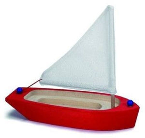 Wooden Sailing Boat | Red 22cm