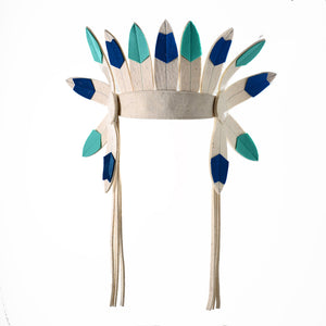 Short Turquoise Indian Headdress