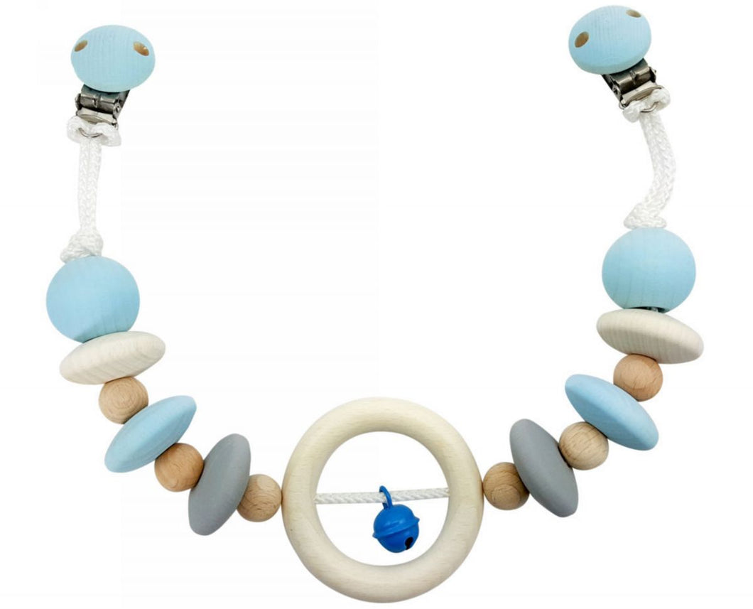 Pram Chain | Wooden | Blue & Natural