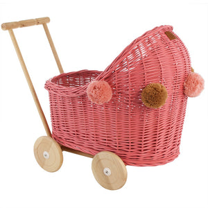 Doll Wicker Pram - Watermelon