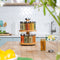 16 Jar 2 Tier Bamboo Rotating Spice Rack