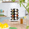 16 Jar Spice Rack Set White