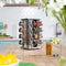 16 Jar Brushed Stainless Steel Rotating Spice Rack