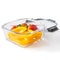 Orii 4 Pc Glass Food Storage Compartment Containers with High Wall Dividers