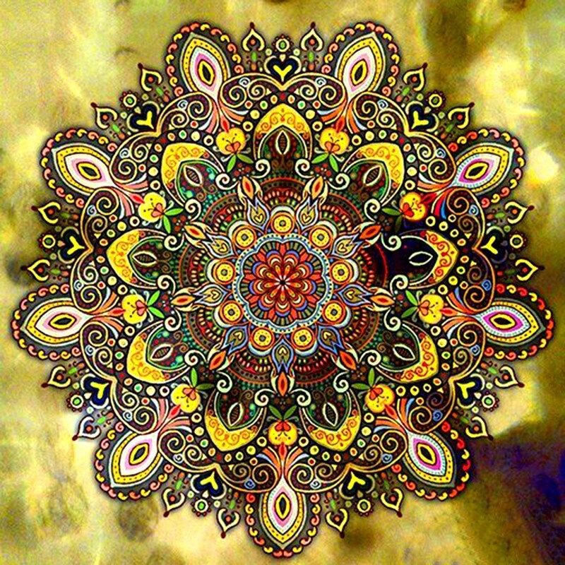Diamond Painting Mandala Goud