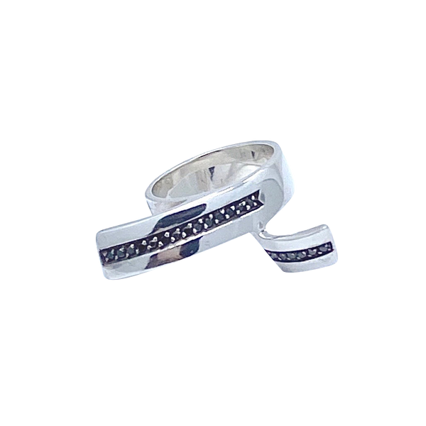 Black Diamonds SS Split Ring