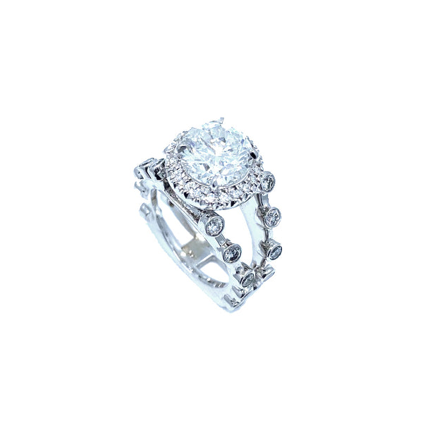 Hugo Signature Collection Original 3ct. White Gold Ring