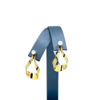 Yellow Gold CZ Earrings