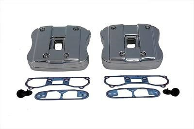 Chrome rocker box six piece cover kit includes gaskets, Fits: XL 1991-2003
