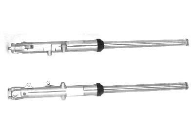 Dual Disc 35mm Fork Tube Assembly w Chrome Sliders for FX 1977-1983, XL 1977-83