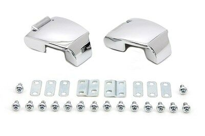 Chrome smooth style Touring Pack Luggage Hinge Kit fits FLT 1988-2013