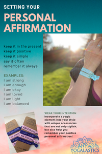 Setting Your Personal Affirmation