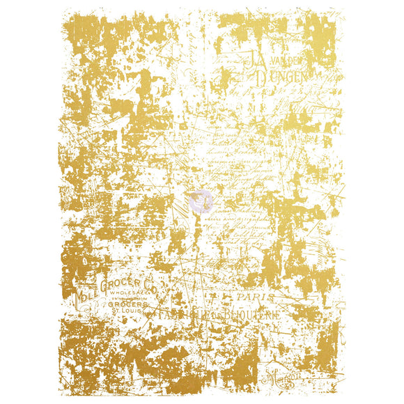 Gilded Distressed Wall Gold Foil Rub On Transfer-17