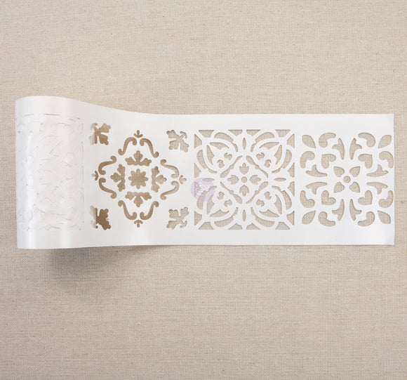 Casa Blanca Tile -Stick and Style Stencil Roll (15 yards long, 4