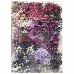 "Giselle Decoupage Material 19"" x 30"" total size- by Redesign with Prima"