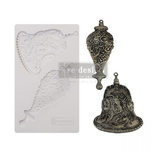 "NEW! *Silver Bells* - Silicone Mould - Total Mould size 5"" x 8 "" - Redesign with Prima"