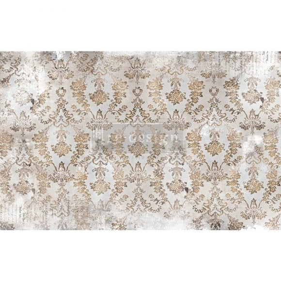 NEW! *Washed Damask* - Mulberry Decoupage Tissue Paper - 19