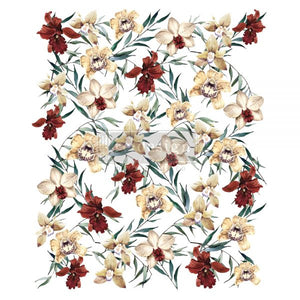 "NEW! *Wildflowers* - Rub On Transfer  24"" x 35"" -(Cut into 3 sheets) - Redesign with Prima"