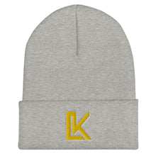 "Load image into Gallery viewer, ""LK"" Beanie (Yellow Logo)"