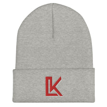 "Load image into Gallery viewer, ""LK"" Beanie (Red Logo)"