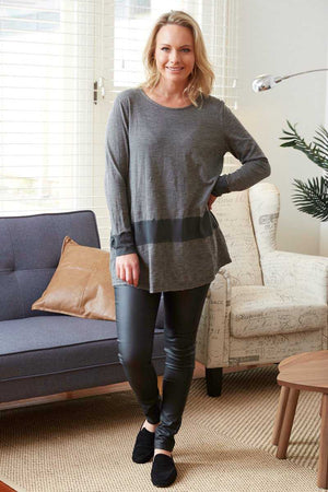 Barossa Top Wool blend long sleeve long top