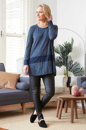 Barossa Top wool blend Navy top