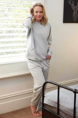 Sport set Light grey hoodie and jogger pants