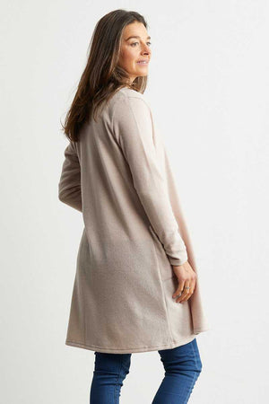 long sleeve cardigan with pockets inn pink