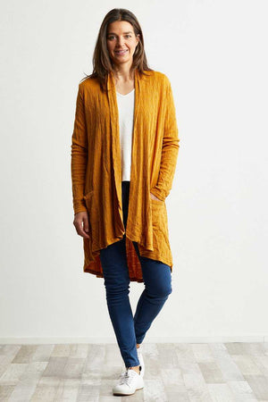 yellow wool blend jacquard cardigan stretch fabric