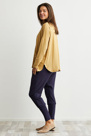 Bamboo Cotton jumper with pockets in Yellow