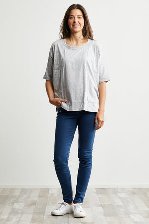 Boxy top Organic Cotton Grey