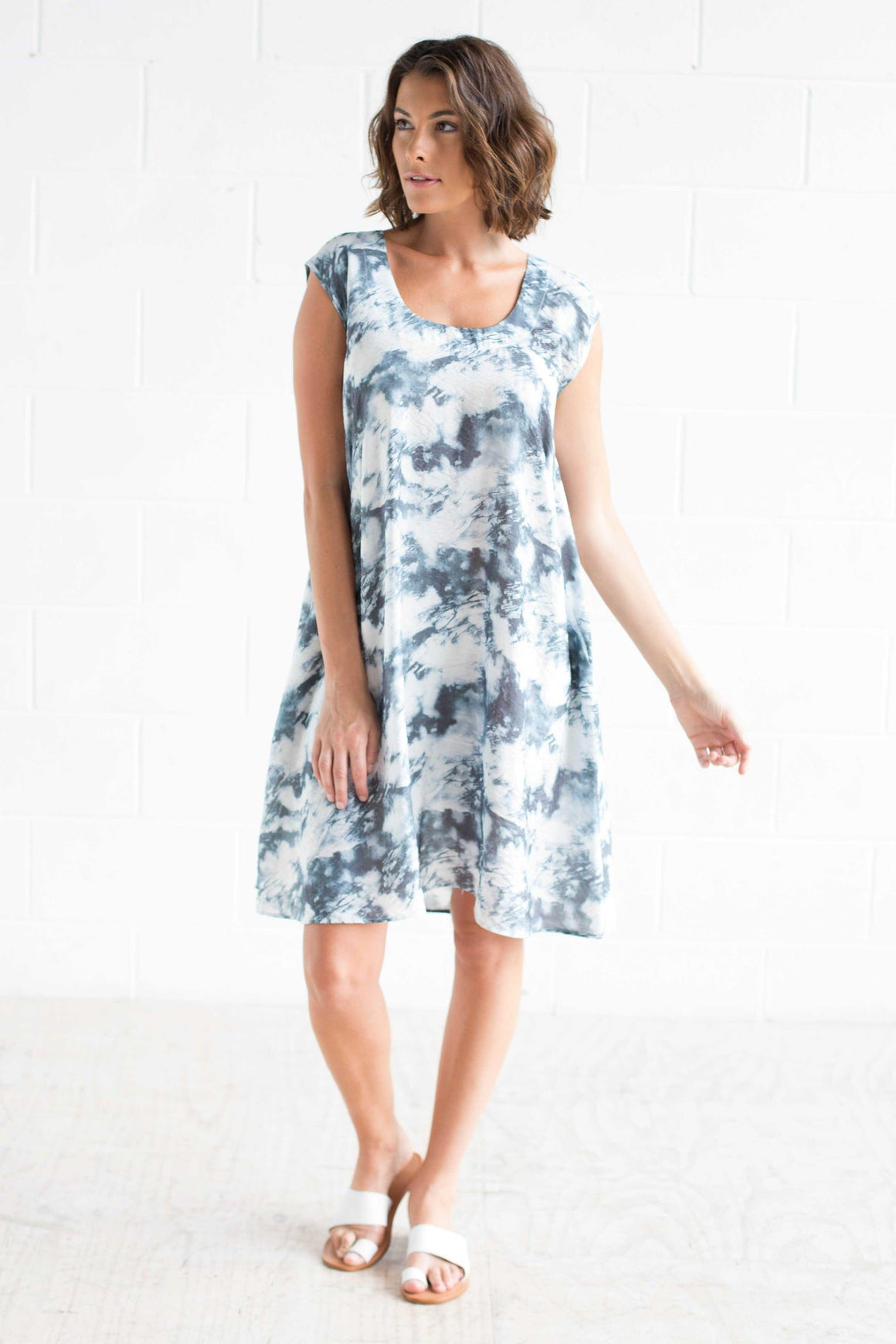 Cloud Print Dress