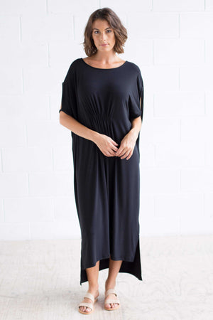 Cut-out Shoulder Maxi