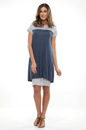Cap sleeve t-shirt dress