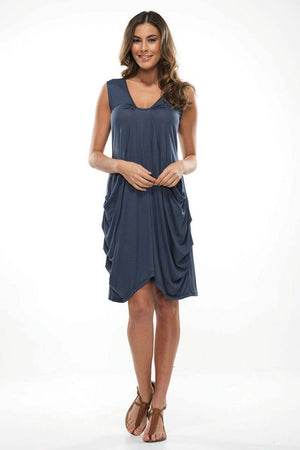 Draped pocket dress
