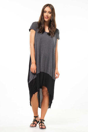 Cotton Mesh Trapeze Maxi