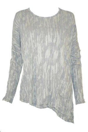 BARK ASYMMETRIC TOP W/ BUTTON DETAIL